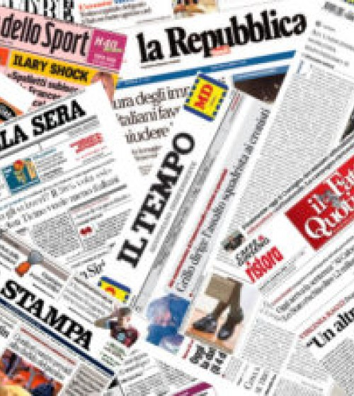 Reading the main Italian newspapers online